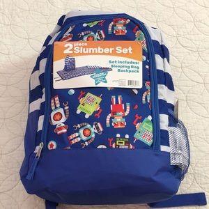 NWT 2 piece Slumbet Set - Sleeping bag & backpack